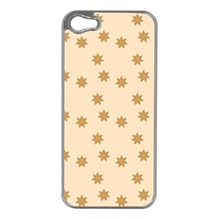 Pattern Gingerbread Star Apple Iphone 5 Case (silver)