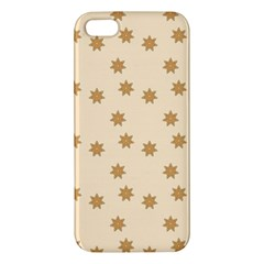 Pattern Gingerbread Star Apple Iphone 5 Premium Hardshell Case