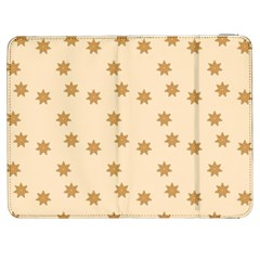 Pattern Gingerbread Star Samsung Galaxy Tab 7  P1000 Flip Case