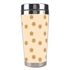 Pattern Gingerbread Star Stainless Steel Travel Tumblers