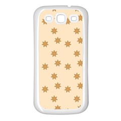 Pattern Gingerbread Star Samsung Galaxy S3 Back Case (white)