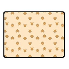 Pattern Gingerbread Star Double Sided Fleece Blanket (small)