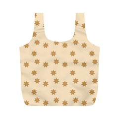 Pattern Gingerbread Star Full Print Recycle Bags (m)