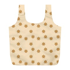 Pattern Gingerbread Star Full Print Recycle Bags (l)