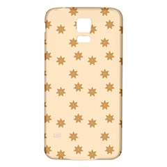 Pattern Gingerbread Star Samsung Galaxy S5 Back Case (white)