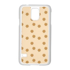 Pattern Gingerbread Star Samsung Galaxy S5 Case (white)