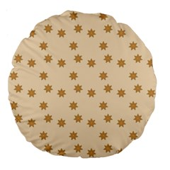 Pattern Gingerbread Star Large 18  Premium Flano Round Cushions