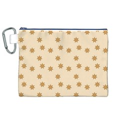 Pattern Gingerbread Star Canvas Cosmetic Bag (xl)