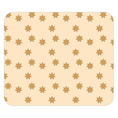 Pattern Gingerbread Star Double Sided Flano Blanket (small)