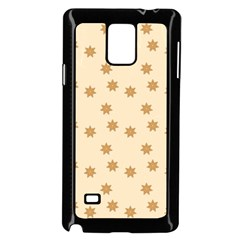 Pattern Gingerbread Star Samsung Galaxy Note 4 Case (Black)