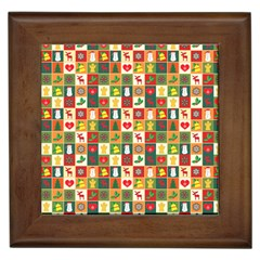Pattern Christmas Patterns Framed Tiles