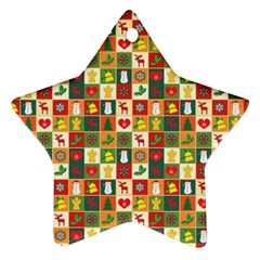 Pattern Christmas Patterns Ornament (star)