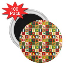 Pattern Christmas Patterns 2 25  Magnets (100 Pack)