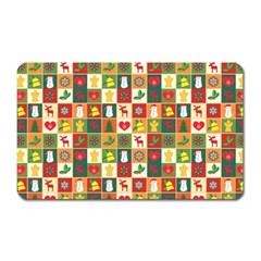 Pattern Christmas Patterns Magnet (Rectangular)