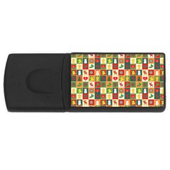Pattern Christmas Patterns Usb Flash Drive Rectangular (4 Gb)