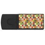 Pattern Christmas Patterns USB Flash Drive Rectangular (4 GB)  Front