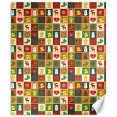 Pattern Christmas Patterns Canvas 8  X 10
