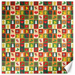 Pattern Christmas Patterns Canvas 20  X 20