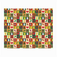 Pattern Christmas Patterns Small Glasses Cloth (2 Side)