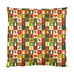 Pattern Christmas Patterns Standard Cushion Case (Two Sides) Back