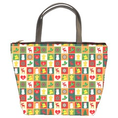 Pattern Christmas Patterns Bucket Bags