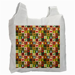 Pattern Christmas Patterns Recycle Bag (one Side)