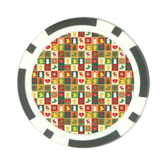 Pattern Christmas Patterns Poker Chip Card Guards (10 Pack)