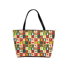 Pattern Christmas Patterns Shoulder Handbags