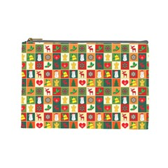 Pattern Christmas Patterns Cosmetic Bag (large)