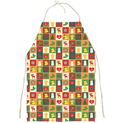 Pattern Christmas Patterns Full Print Aprons