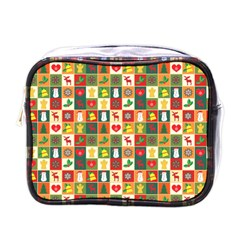 Pattern Christmas Patterns Mini Toiletries Bags