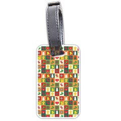 Pattern Christmas Patterns Luggage Tags (One Side)