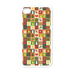 Pattern Christmas Patterns Apple Iphone 4 Case (white)