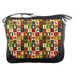 Pattern Christmas Patterns Messenger Bags