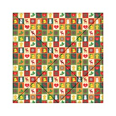 Pattern Christmas Patterns Acrylic Tangram Puzzle (6  X 6 )