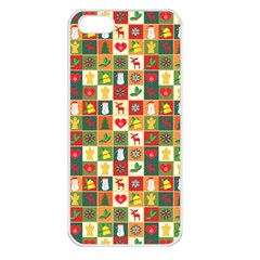 Pattern Christmas Patterns Apple Iphone 5 Seamless Case (white)