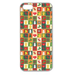 Pattern Christmas Patterns Apple Seamless Iphone 5 Case (clear)