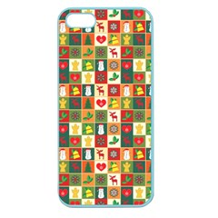 Pattern Christmas Patterns Apple Seamless Iphone 5 Case (color)