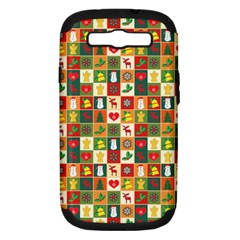 Pattern Christmas Patterns Samsung Galaxy S Iii Hardshell Case (pc+silicone)
