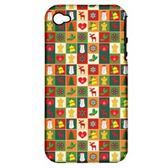 Pattern Christmas Patterns Apple Iphone 4/4s Hardshell Case (pc+silicone)
