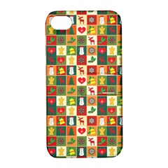 Pattern Christmas Patterns Apple Iphone 4/4s Hardshell Case With Stand