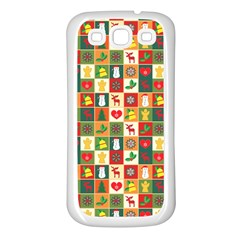 Pattern Christmas Patterns Samsung Galaxy S3 Back Case (white)