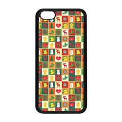 Pattern Christmas Patterns Apple Iphone 5c Seamless Case (black)