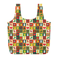 Pattern Christmas Patterns Full Print Recycle Bags (l)