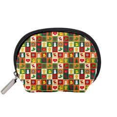 Pattern Christmas Patterns Accessory Pouches (small)