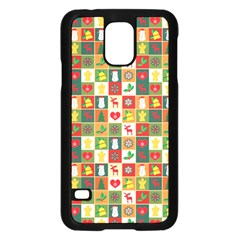 Pattern Christmas Patterns Samsung Galaxy S5 Case (black)