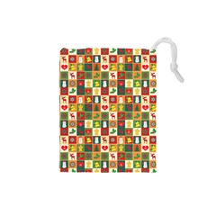 Pattern Christmas Patterns Drawstring Pouches (Small)