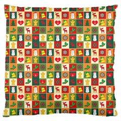 Pattern Christmas Patterns Standard Flano Cushion Case (one Side)