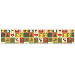 Pattern Christmas Patterns Flano Scarf (Large)