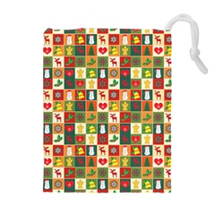 Pattern Christmas Patterns Drawstring Pouches (extra Large)